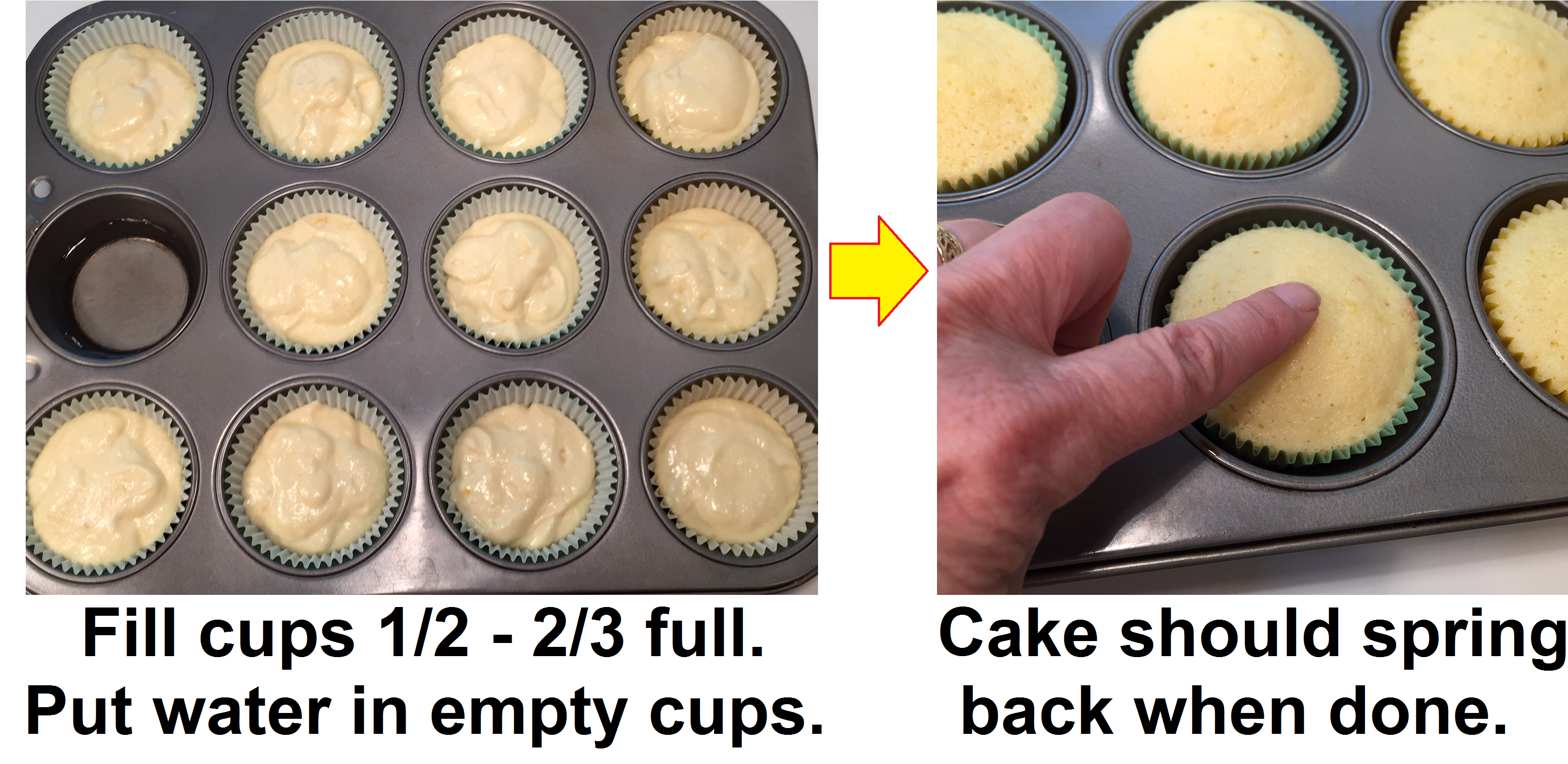 how full do you fill cupcakes