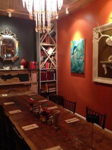 Special dining room at Abricott in Pasadena.