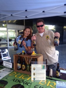 The good folks at Venice Duck Brewing pouring some beer