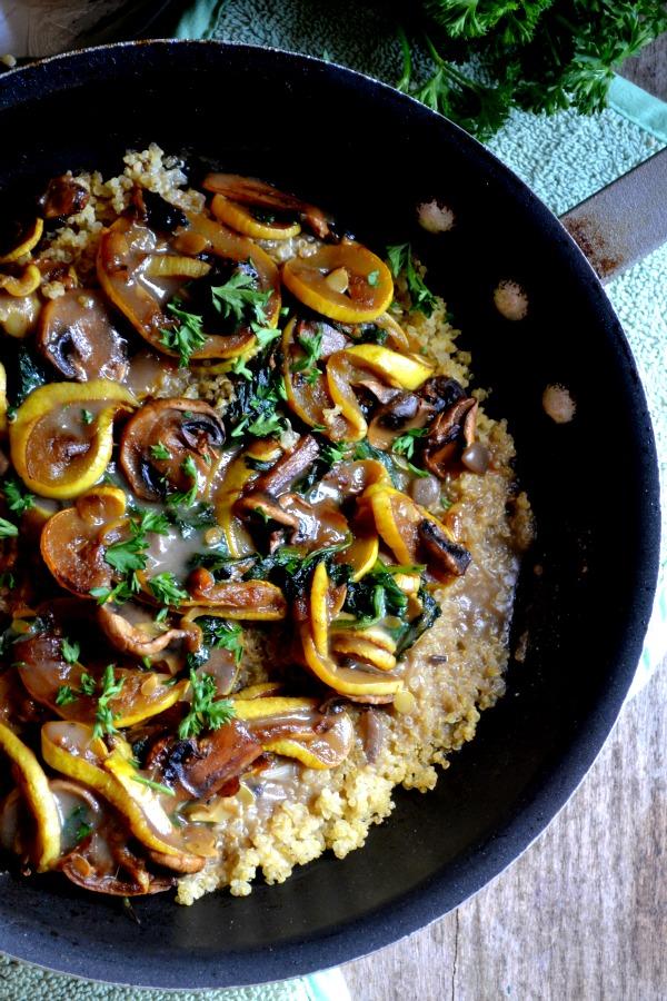 quinoa with sauteed veggies