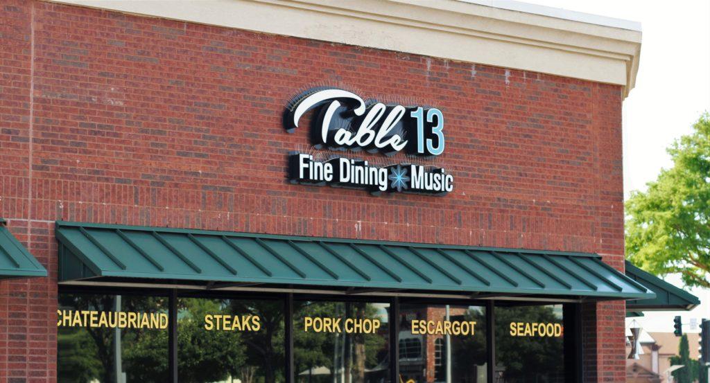 Table 13, Addison, Texas, steak, seafood, Frank Sinatra