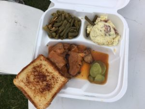 Beef Brisket, Green Beans, Potato Salad, Texas Toast from Smith's Catering