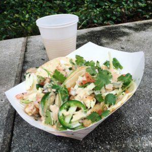 Fish Tacos -- Von's Bistro Flour tortillas, crispy fish, cabbage, jalapeños, cilantro, pico, cream sauce