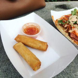 Spring Rolls - Von's Bistro Deep-fried pork spring roll with sweet and sour sauce