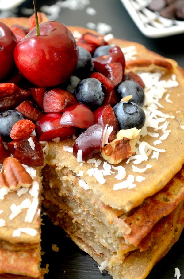 gluten free banana chia pancakes