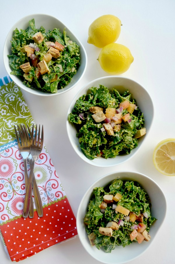 tangy summer kale salad