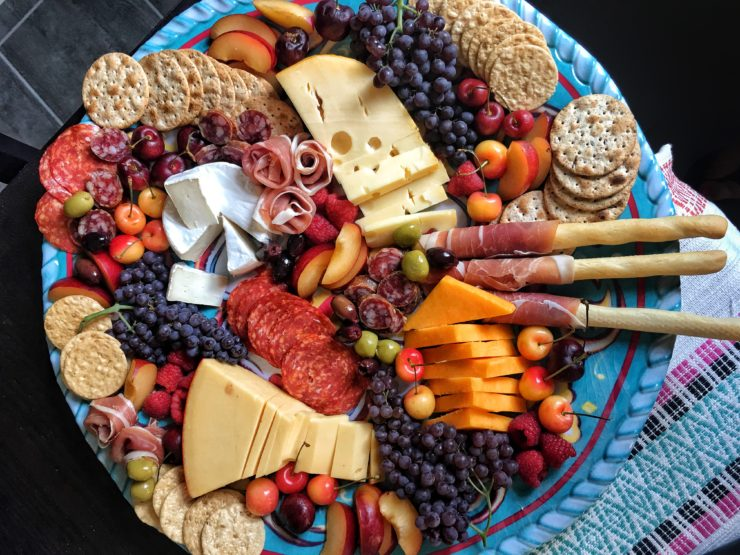 cheese and fruit tray