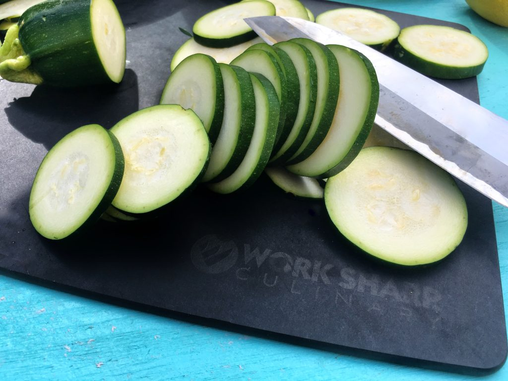 Worksharp zucchini slices