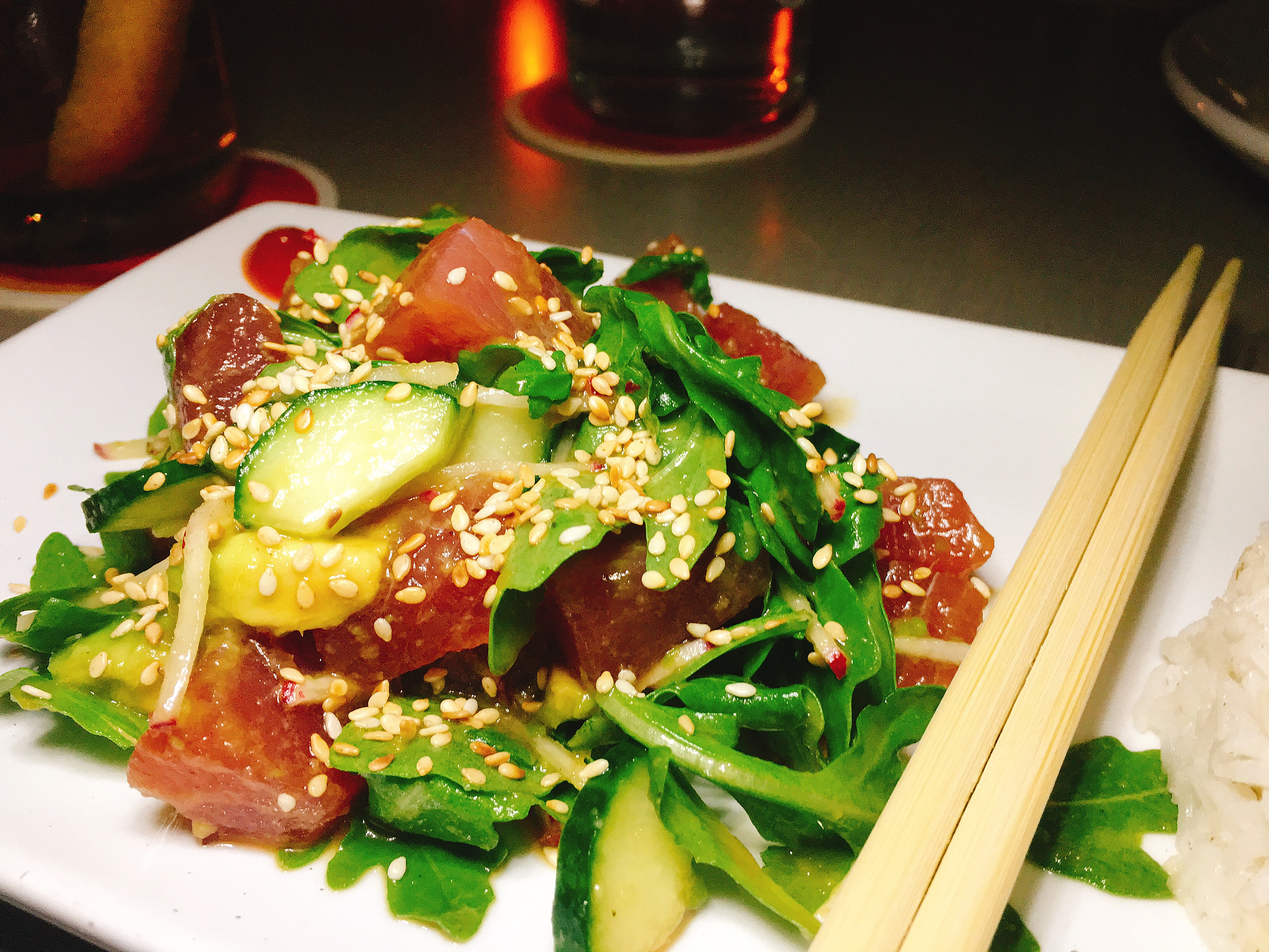 Lounge Here - Tuna Poke - East Dallas - The GG List - Girls on Food Blog